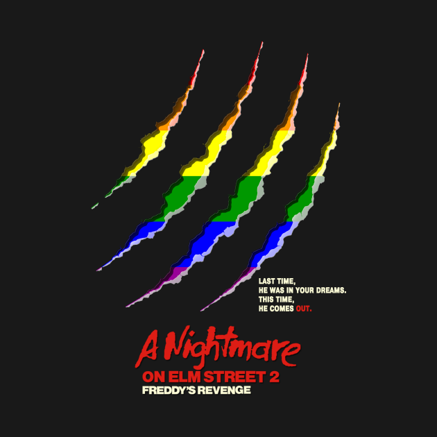 TeePublic: A Nightmare on Elm Street 2: Freddy Comes Out