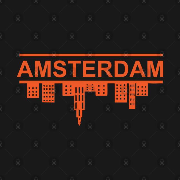 TeePublic: amsterdam skyline