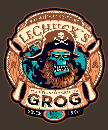 Qwertee: Ghost Pirate Grog