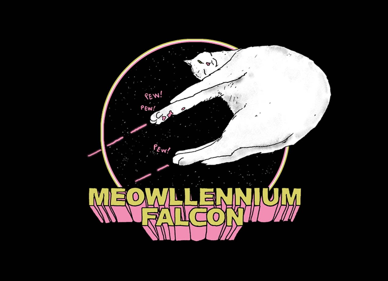 Threadless: Meowllennium Falcon