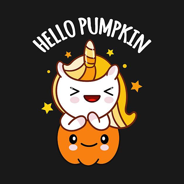 TeePublic: Halloween Hello Pumpkin Unicorn Candy Corn