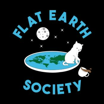BustedTees: Flat earth society cat version