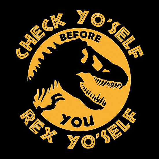 BustedTees: Check Your Self Before Rex