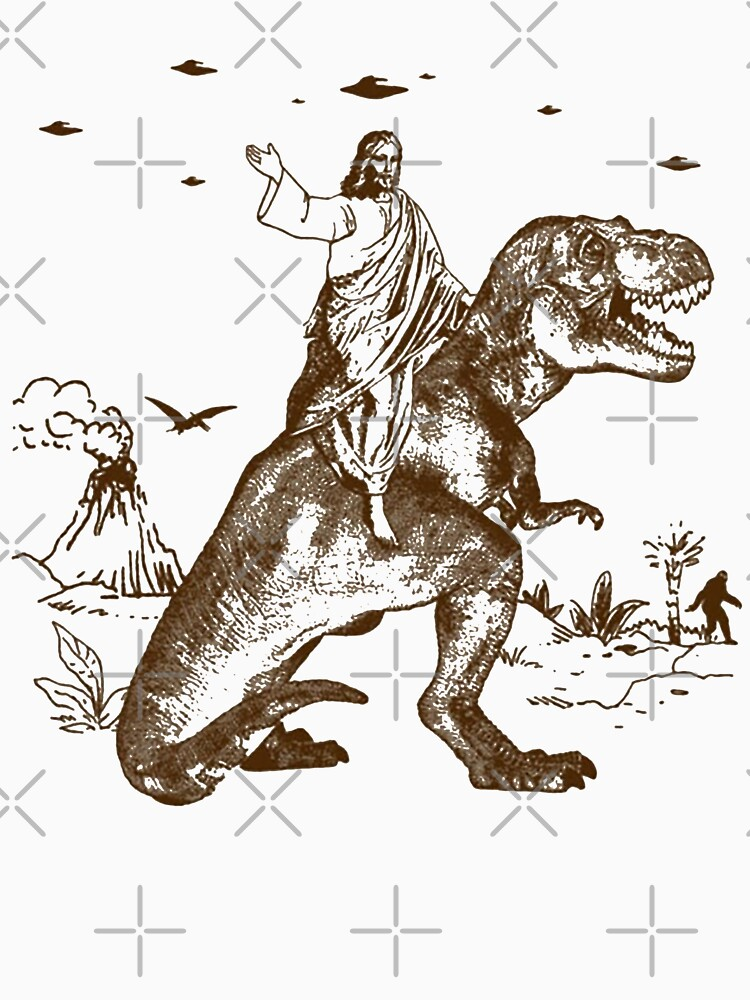 RedBubble: Jesus Riding a Dinosaur