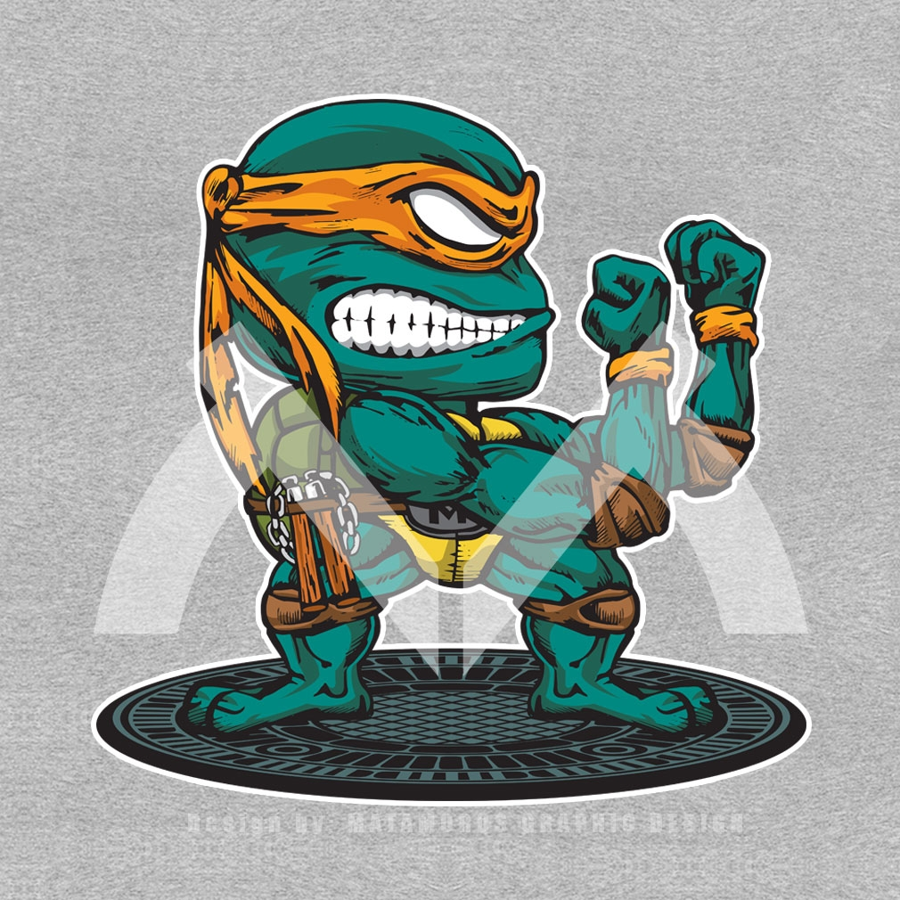 TeeTournament: FIGHTING TURTLE MICHAELANGELO