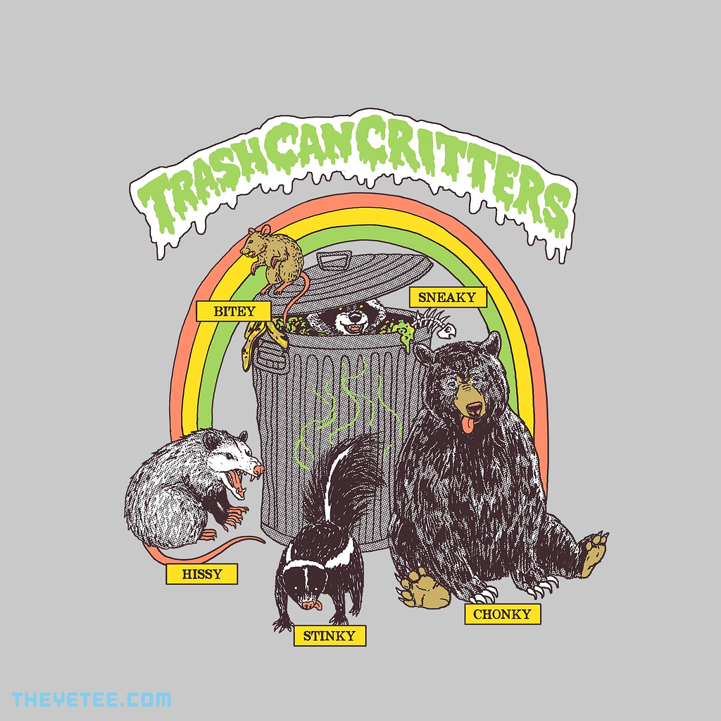 The Yetee: Trash Can Critters