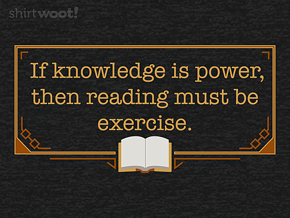 Woot!: Reading is Exercise