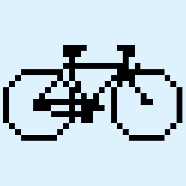 NeatoShop: Pixel Bike (Black Print)