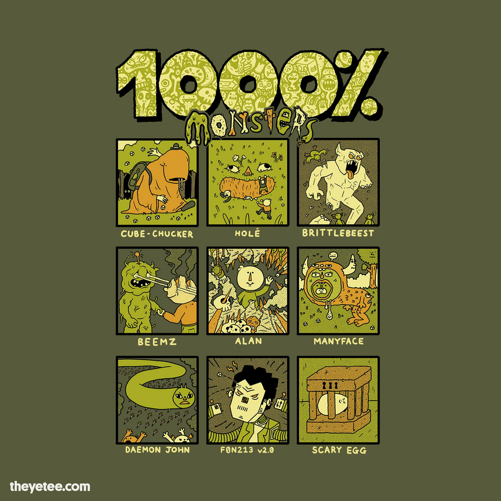 The Yetee: 1000% Monsters
