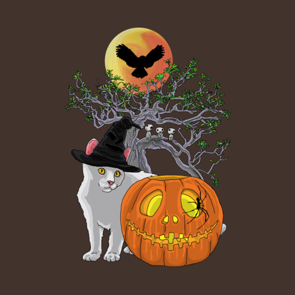 TeePublic: Cat Halloween Pumpkin T-Shirt