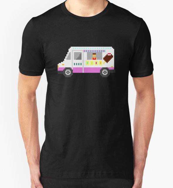 RedBubble: Ice Cream Truck - The Kids' Picture Show - 8-Bit