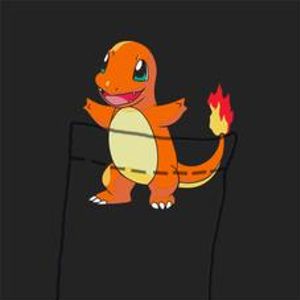 Textual Tees: Charmander Pocket Tee