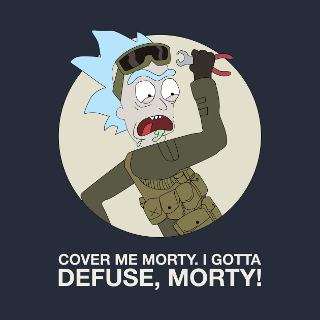 TeePublic: Cover me morty! - CT Rick Sanchez [Rick and Morty X CSGO]