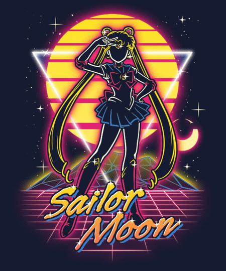 Qwertee: Retro Moon Guardian