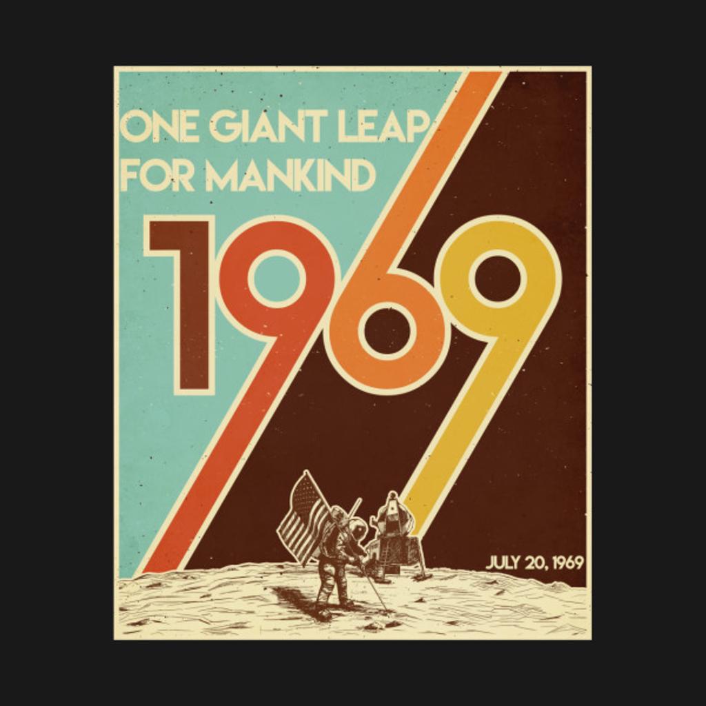 TeePublic: Vintage 50th Anniversary Moon Landing 1969 Apollo 11 Astronaut Tshirt