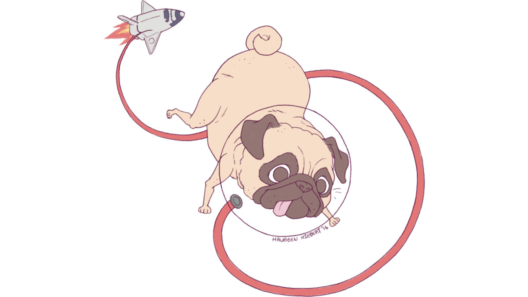 Design by Humans: Space Pug