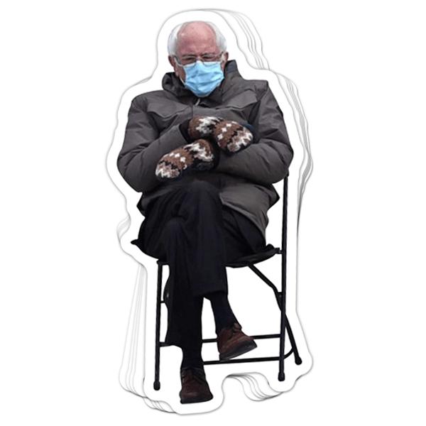 BustedTees: Bernie Mittens Vinyl Sticker