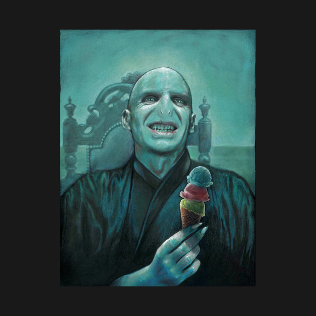 TeePublic: Voldemort Gets Ice Cream