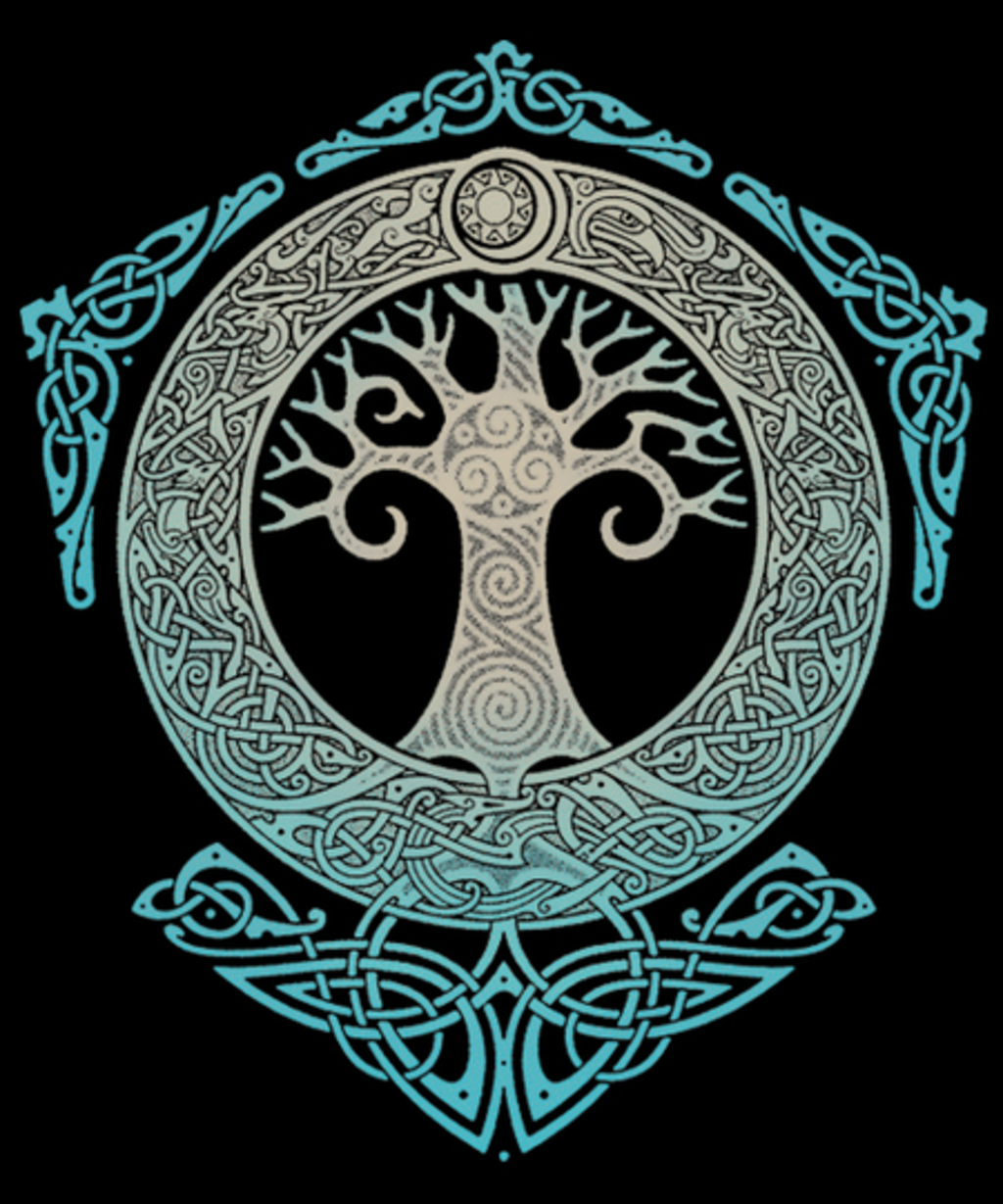 Qwertee: Yggdrasil. Tree of Life