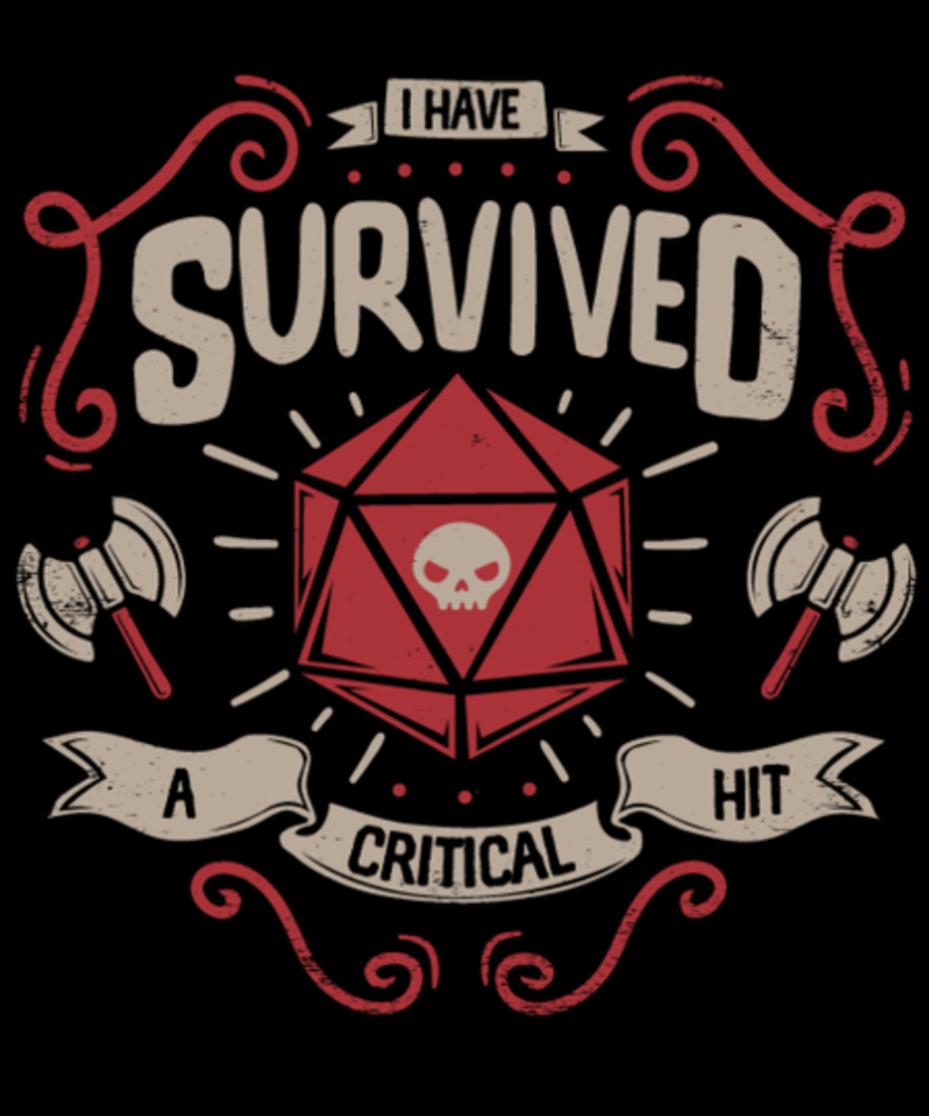 Qwertee: Critical hit Survivor