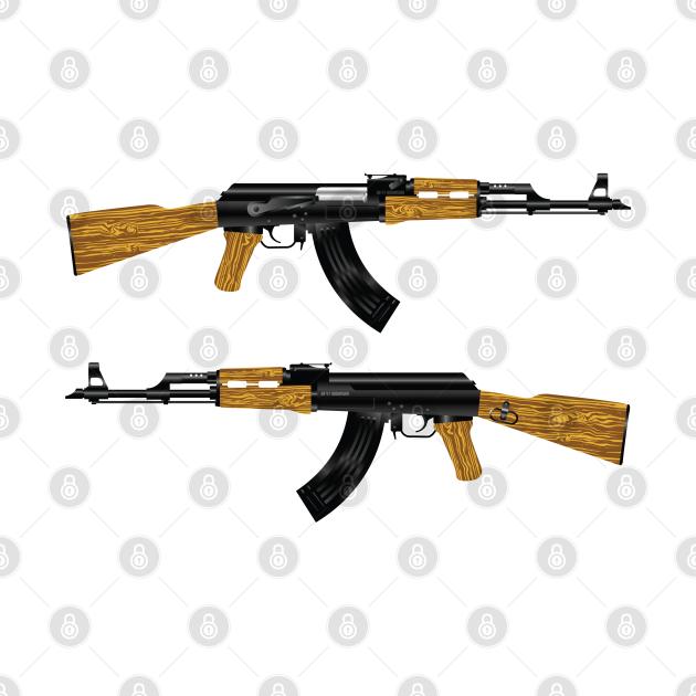 TeePublic: AK 47 Rifle