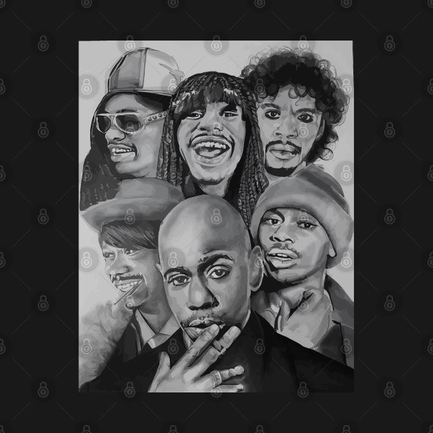 TeePublic: Dave Chappelle Many Face Edition
