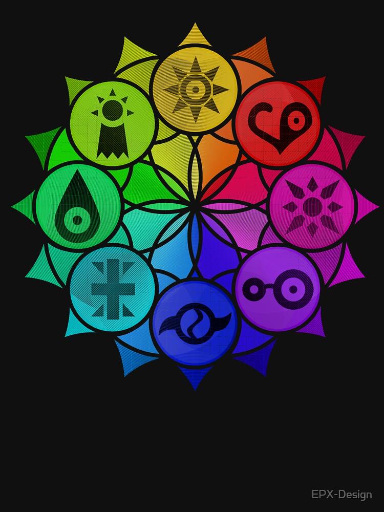 RedBubble: Digimon Crests Mandala