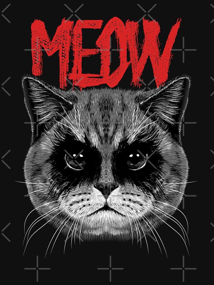 RedBubble: Black Metal Cat | Meow Metalhead
