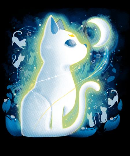 Qwertee: White Cat Moon