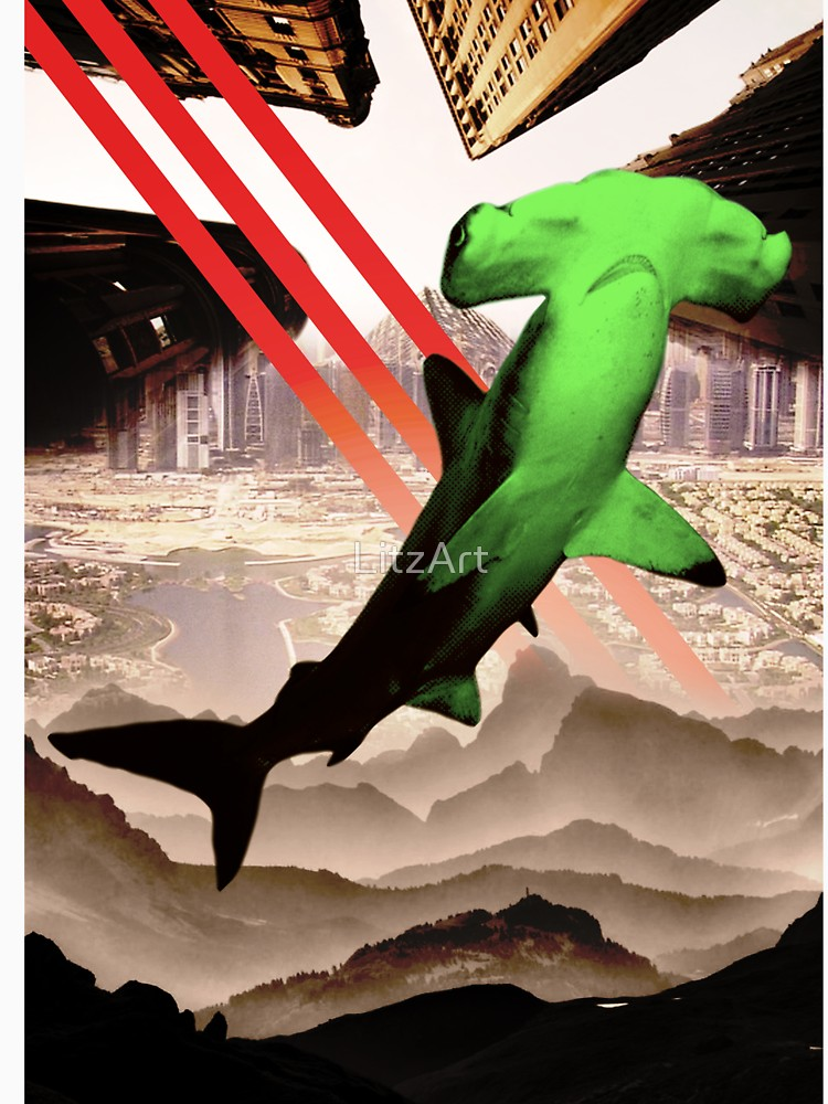 RedBubble: Green Hammerhead