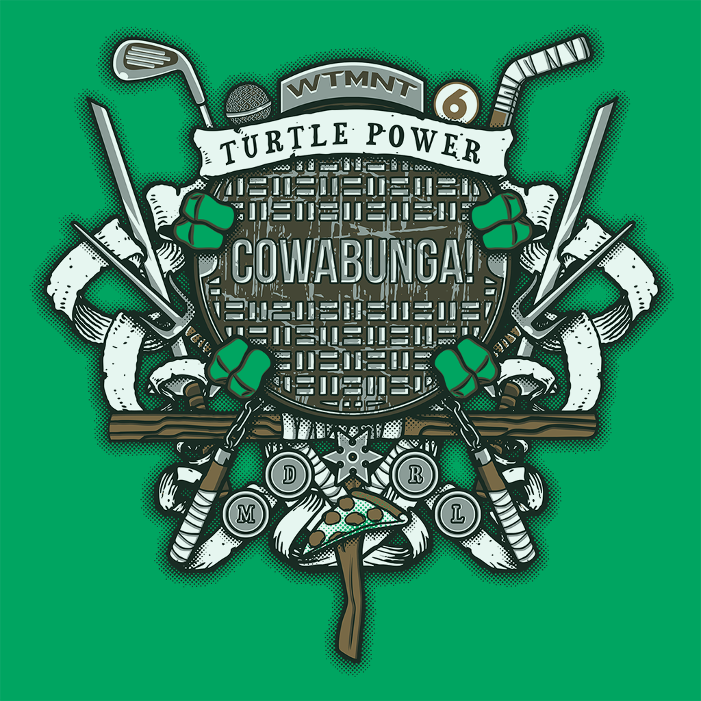 Pop-Up Tee: Turtle Power