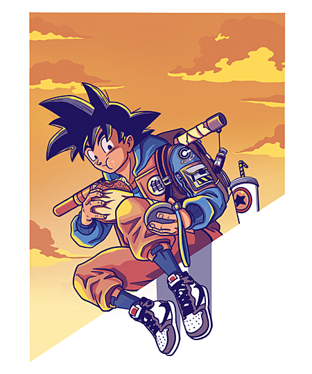 Qwertee: Goku Vibes