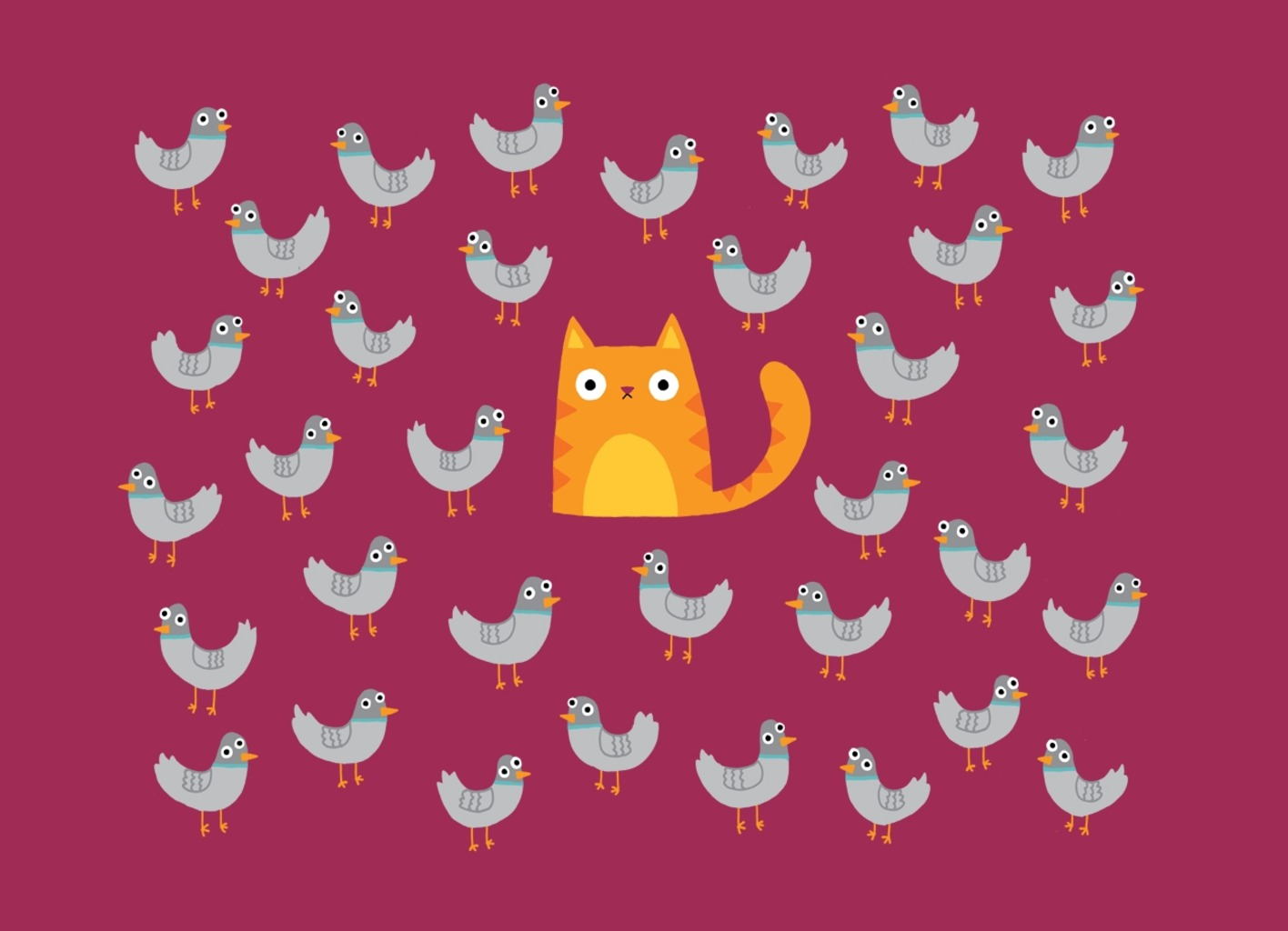 Threadless: Cat Among The Pigeons