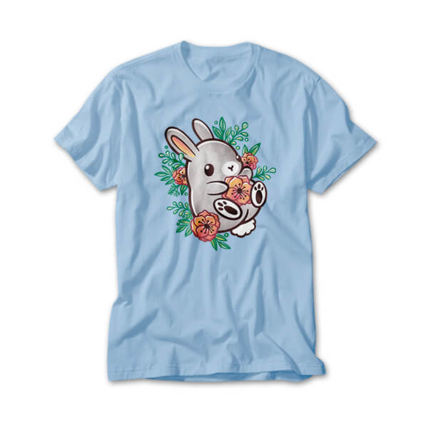 OtherTees: Floral cute bunny