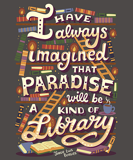 Qwertee: Library is Paradise