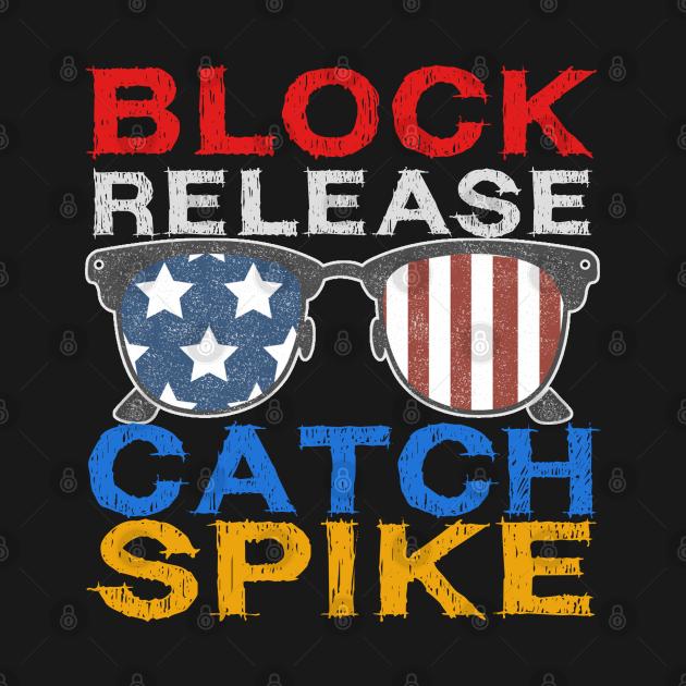 TeePublic: vintage usa flag glasses-Block Release Catch Spike