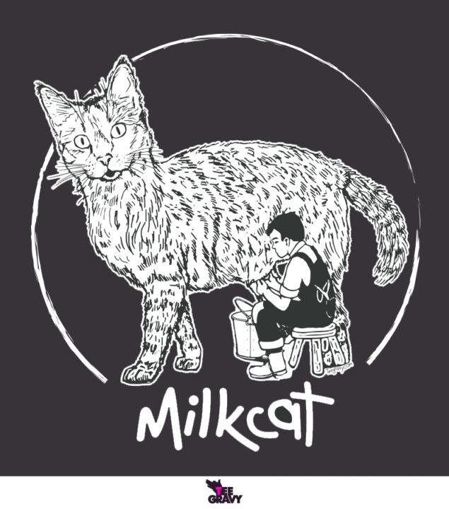 Tee Gravy: Milk Cat