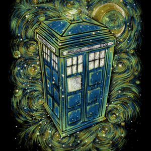 Qwertee: The Doctor in the starry night