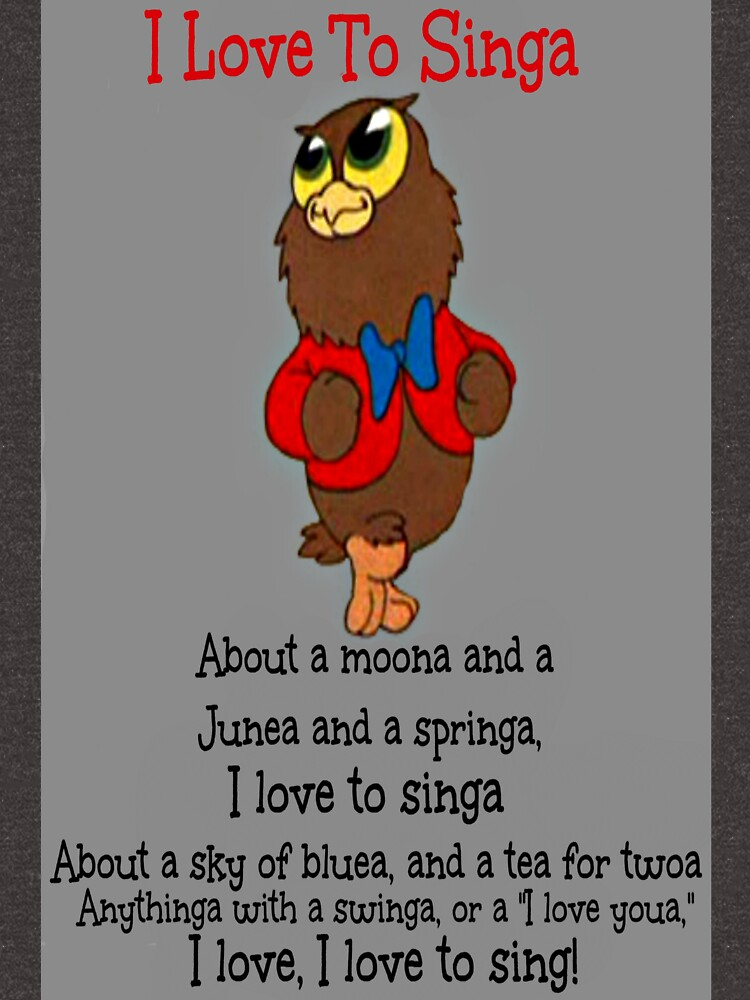 RedBubble: Owl Jolson  I love to Singa!
