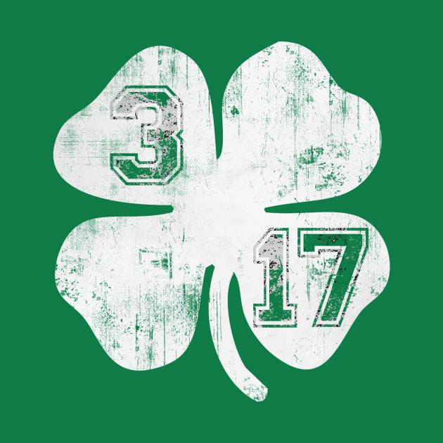 TeePublic: Vintage 3/17 St Patrick's Day Shamrock