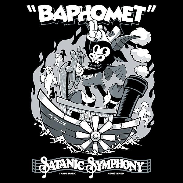 NeatoShop: Vintage Cartoon Baphomet - Steamboat Baphy - Occult - Satanic Symphony