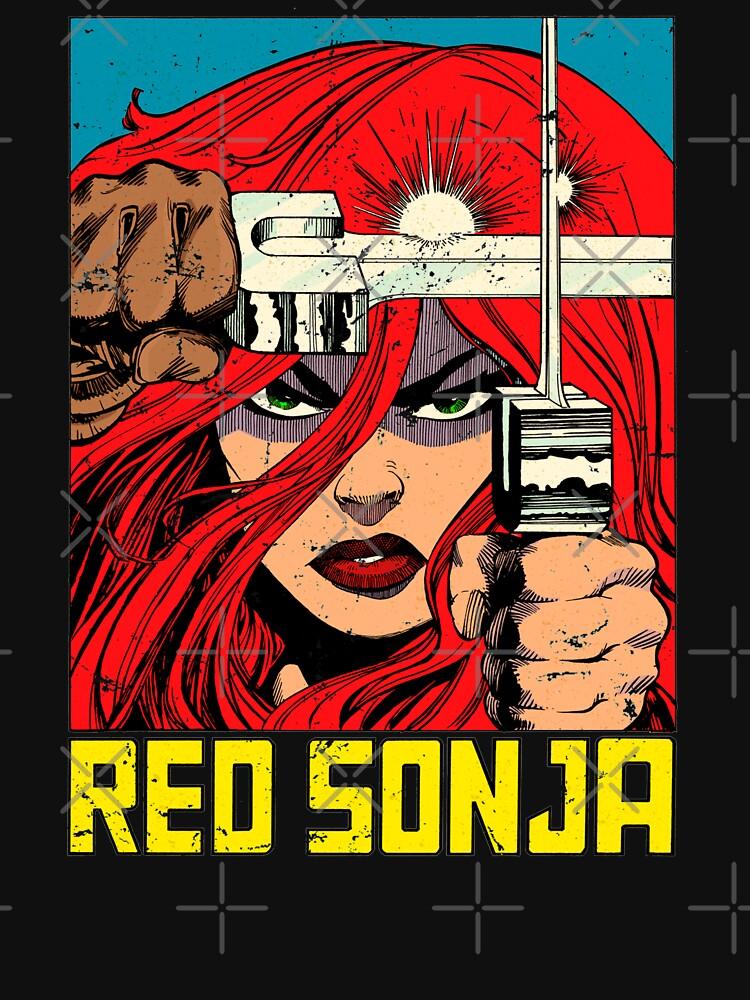 RedBubble: Vintage Red Sonja