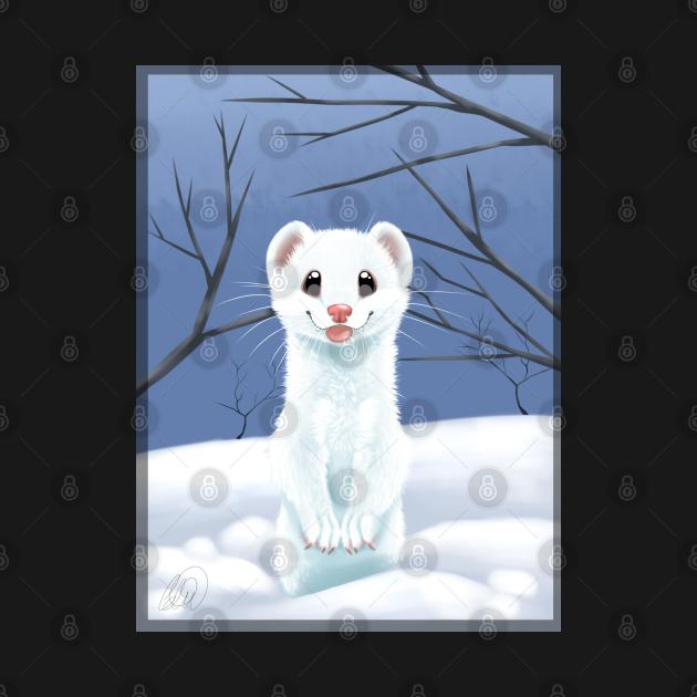TeePublic: Stoat in the snow