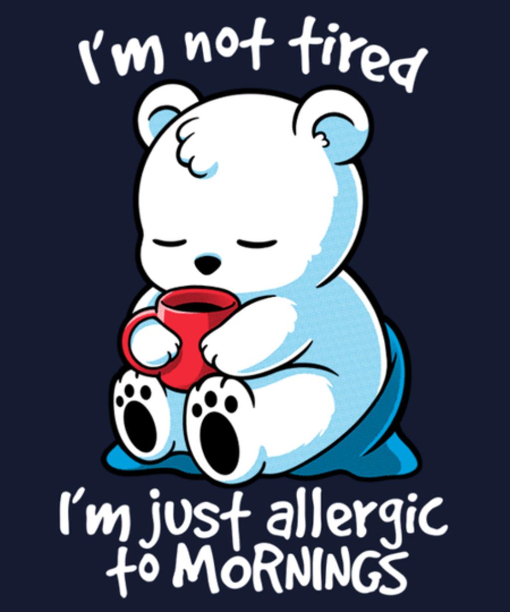 Qwertee: Tired polar bear