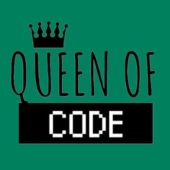BustedTees: Queen of Code T Shirt