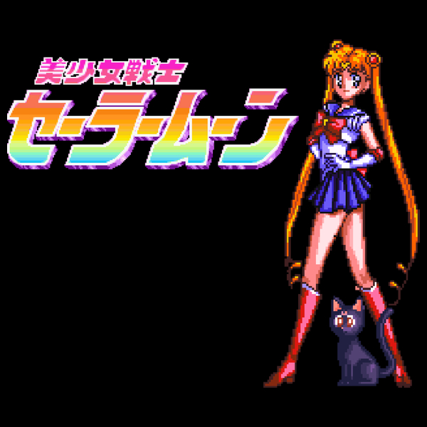 NeatoShop: Sailormoon Classic 90's Pixel (Rainbow Logo)