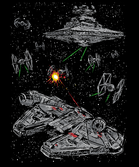 Qwertee: Escape the Imperial Navy