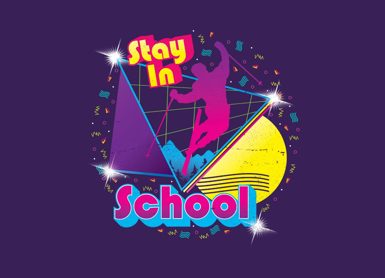 Threadless: STAY IN SCHOOL...