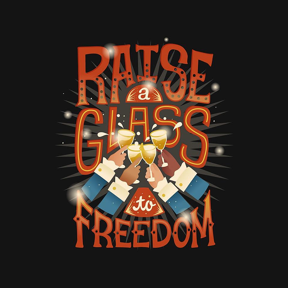 TeeFury: Raise A Glass To Freedom
