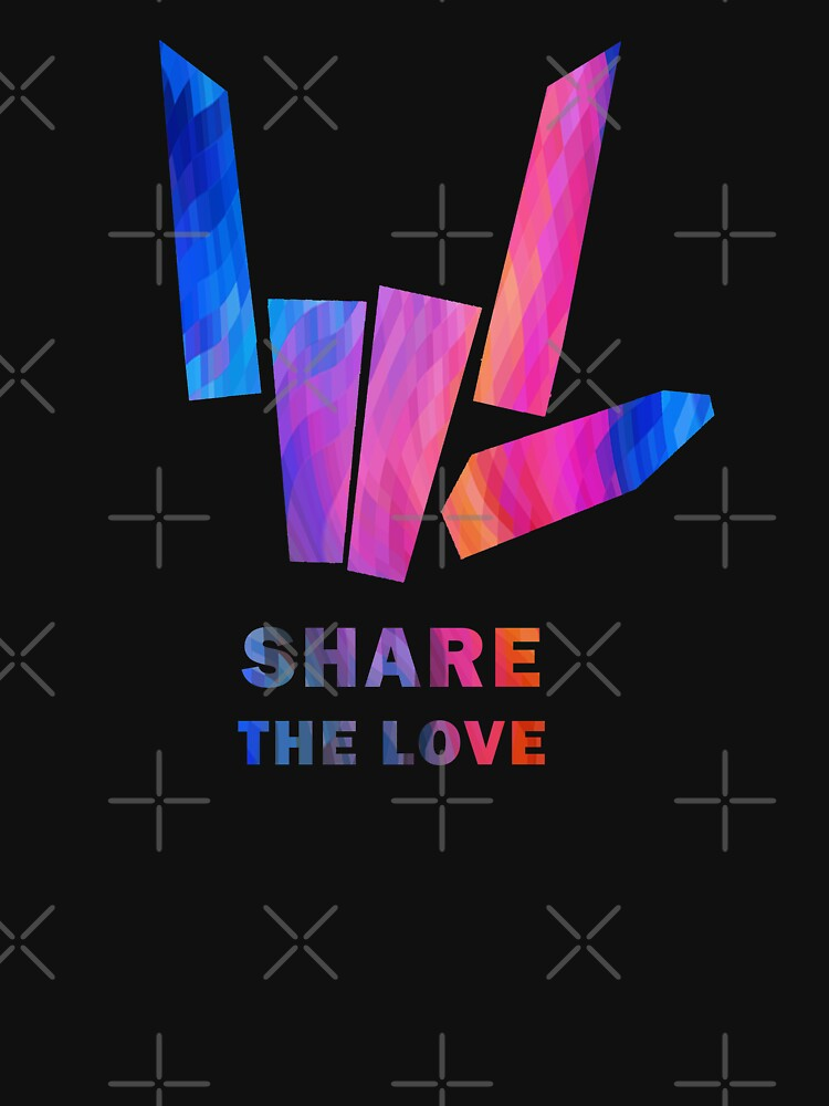 RedBubble: Share the Love Gold Sharer Colored